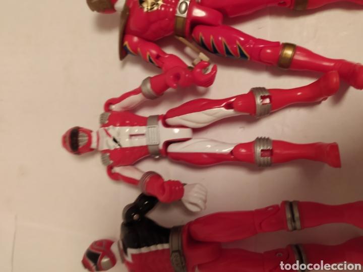 Figuras y Muñecos Power Rangers: Power Rangers ninjas rojos Bandai - Foto 9 - 229228240