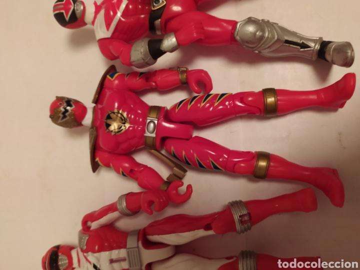 Figuras y Muñecos Power Rangers: Power Rangers ninjas rojos Bandai - Foto 10 - 229228240