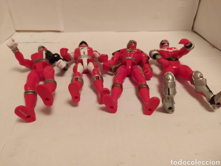 Figuras y Muñecos Power Rangers: Power Rangers ninjas rojos Bandai - Foto 12 - 229228240