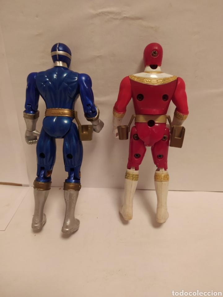 Figuras y Muñecos Power Rangers: Power Rangers ninjas azul y rojo Bandai año 1996-1999 - Foto 2 - 229228635