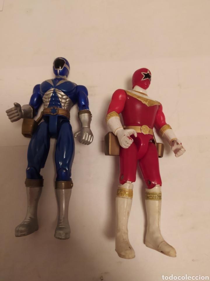 Figuras y Muñecos Power Rangers: Power Rangers ninjas azul y rojo Bandai año 1996-1999 - Foto 7 - 229228635