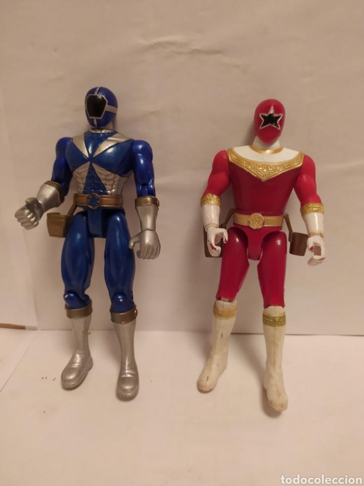 POWER RANGERS NINJAS AZUL Y ROJO BANDAI AÑO 1996-1999 (Juguetes - Figuras de Acción - Power Rangers)