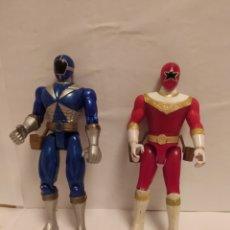 Figuras y Muñecos Power Rangers: POWER RANGERS NINJAS AZUL Y ROJO BANDAI AÑO 1996-1999. Lote 229228635