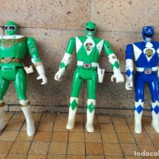 Figuras y Muñecos Power Rangers: LOTE 3 MUÑECOS POWER RANGERS CABEZA GIRATORIA DE BANDAI 93 AÑO 1993 Y UNO DE 1996. Lote 257319125