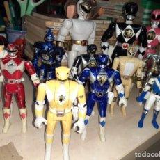 Figuras y Muñecos Power Rangers: LOTE DE 12 POWER RANGERS DE BANDAI.AÑOS 80 Y 90.. Lote 238865480