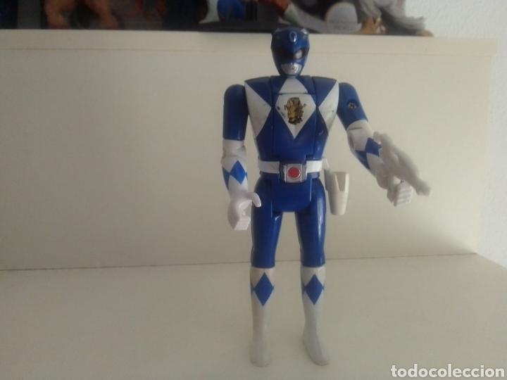 POWER RANGER AZUL CON ARMA 1993 BANDAI ORIGINAL VINTAGE 15 CENTIMETROS KAIJU BIOMAN (Juguetes - Figuras de Acción - Power Rangers)