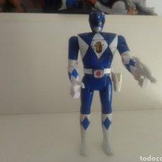 Figuras y Muñecos Power Rangers: POWER RANGER AZUL CON ARMA 1993 BANDAI ORIGINAL VINTAGE 15 CENTIMETROS KAIJU BIOMAN. Lote 239552505