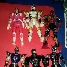 Figuras y Muñecos Power Rangers: LOTE POWER RANGER AÑOS 90 DE BANDAI 15 CENTIMETROS VINTAGE KAIJU BIOMAN. Lote 239795520