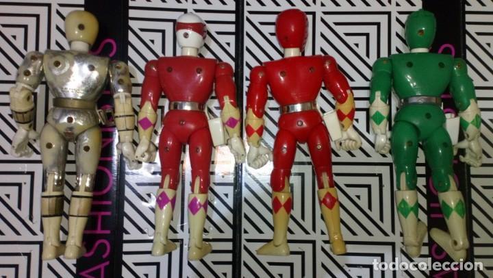 Figuras y Muñecos Power Rangers: LOTE DE 4 FIGURAS POWER RANGERS CON DEFECTOS, PARA PIEZAS O REPARAR - Foto 2 - 245135935