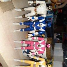Figurines et Jouets Power Rangers: LOTE DE 5 POWER RANGERS DE BANDAI 1996.CABEZA GIRATORIA.. Lote 247965330
