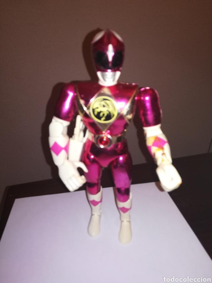 POWER RANGERS FIGURA DE ACCION ROSA BANDAI 1993 (Juguetes - Figuras de Acción - Power Rangers)