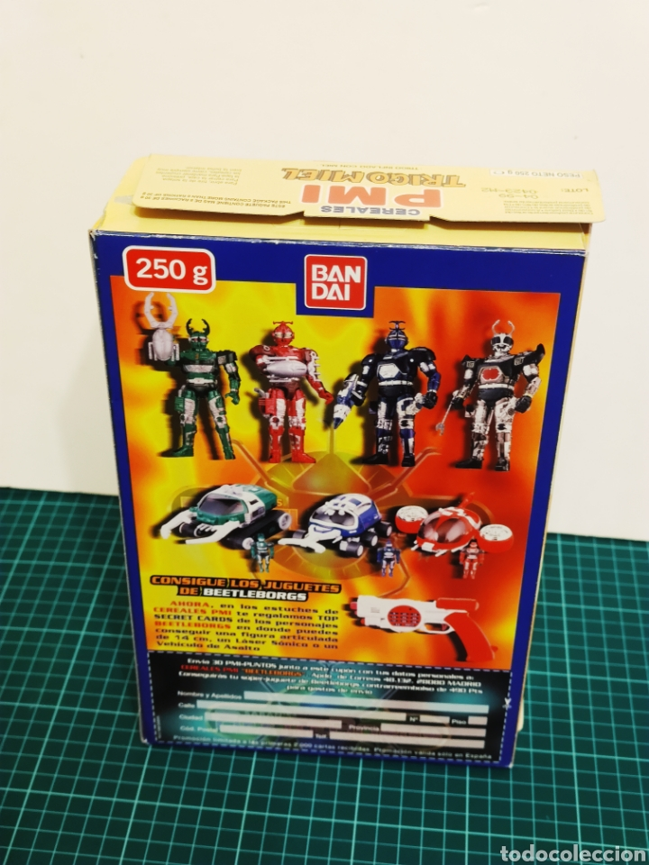 Figuras y Muñecos Power Rangers: Caja Cereales PMI Sabans BeetleBorgs, Power Rangers, Transformers BANDAI. Panrico, Chex - Foto 3 - 253196525