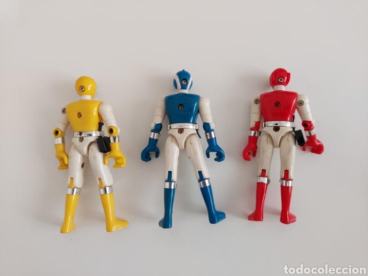 Figuras y Muñecos Power Rangers: Colección 3 figuras Bioman Power Ranger en muy buen estado, Bandai 1988 - Foto 2 - 253480350