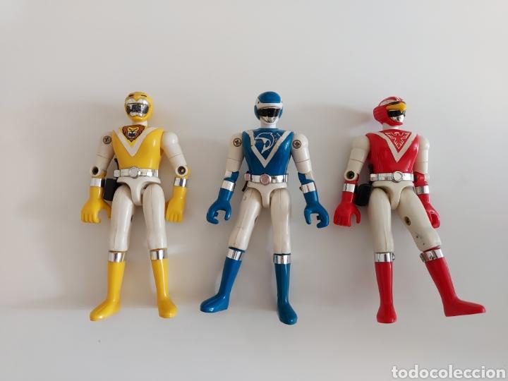 COLECCIÓN 3 FIGURAS BIOMAN POWER RANGER EN MUY BUEN ESTADO, BANDAI 1988 (Juguetes - Figuras de Acción - Power Rangers)