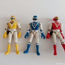Figuras e Bonecos Power Rangers: COLECCIÓN 3 FIGURAS BIOMAN POWER RANGER EN MUY BUEN ESTADO, BANDAI 1988. Lote 253480350