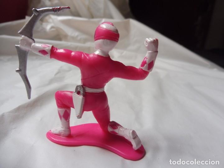 Figuras y Muñecos Power Rangers: Figura plástico Power Rangers rosa, Bandai 1993 - Foto 3 - 257302575
