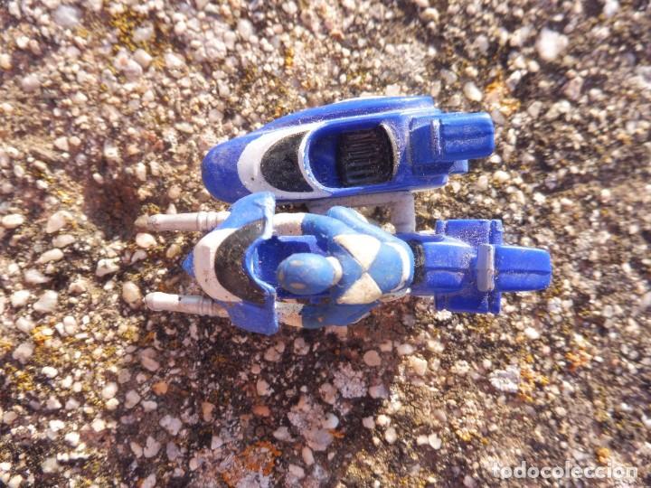 Figuras y Muñecos Power Rangers: Power rangers azul mini micro moto con sidecar Saban 1994 - Foto 2 - 264696884