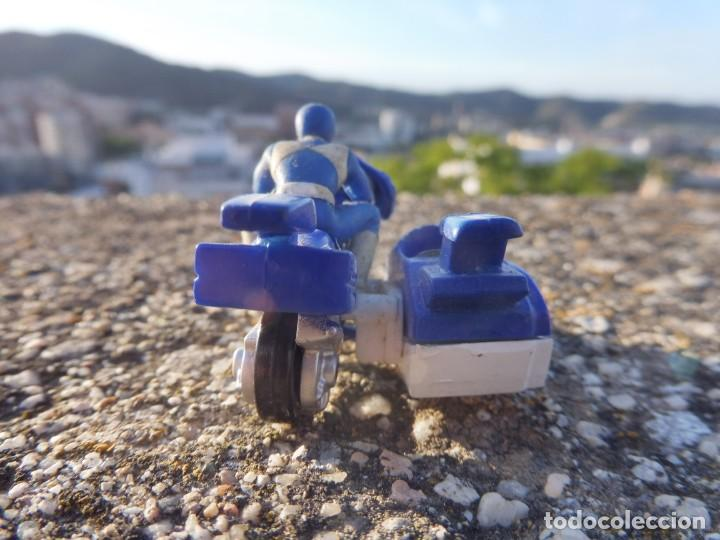 Figuras y Muñecos Power Rangers: Power rangers azul mini micro moto con sidecar Saban 1994 - Foto 4 - 264696884