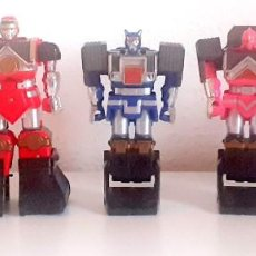 Figuras y Muñecos Power Rangers: ROBOT POWER RANGERS 5 FIGURAS BANDAI 1995 SHOGUN TRANSFORMERS. Lote 267390644