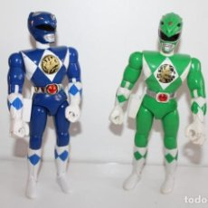 Figuras y Muñecos Power Rangers: 2 POWER RANGER ARTICULADOS DE BANDAI - AÑO 93 - MIDEN 21 CMS. Lote 271021383