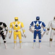Figuras y Muñecos Power Rangers: 4 POWER RANGER ARTICULADOS DE BANDAI - AÑO 93 - MIDEN 14 CMS. Lote 271022438