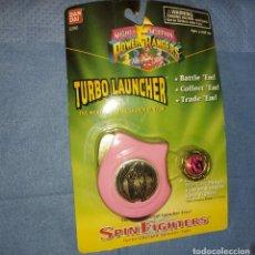 Figuras y Muñecos Power Rangers: POWER RANGERS.TURBO LAUNCHER.NUEVO EN BLISTER ROSA SPIN FIGHTER.LANZADERA.BANDAI. Lote 276947483