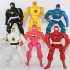 Figuras y Muñecos Power Rangers: 1995 SABAN BANDAI MIGHTY MORPHIN POWER RANGERS ACTION NINJA FULL SET 6. Lote 278220268