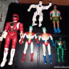 Figuras y Muñecos Power Rangers: MUÑECOS POWER RANGERS ROJO Y OTROS. VINTAGE, AÑOS 90.. Lote 279456353