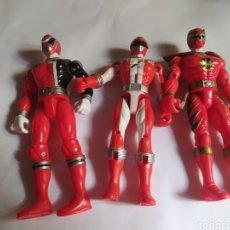 Figuras y Muñecos Power Rangers: POWER RANGERS NINJAS ROJOS BANDAI. Lote 229228240