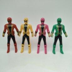 Figuras y Muñecos Power Rangers: LOTE DE 4 POWER RANGERS BOOTLEG - SIN LICENCIA. Lote 285160568