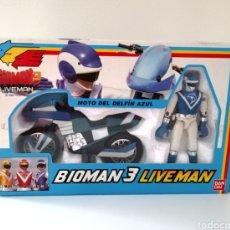 Figuras y Muñecos Power Rangers: BIOMAN 3 LIVEMAN. DELFIN AZUL. BANDAI.. Lote 288732693