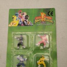 Figuras y Muñecos Power Rangers: MIGHTY MORPHIN POWER RANGERS / BLISTER CON 4 FIGURAS DE GOMA SIN ESTRENAR / SABAN 1993. Lote 288738633