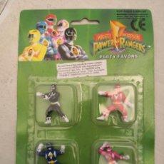 Figuras y Muñecos Power Rangers: MIGHTY MORPHIN POWER RANGERS / BLISTER CON 4 FIGURAS DE GOMA SIN ESTRENAR / SABAN 1993. Lote 288738693