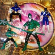 Figuras y Muñecos Power Rangers: LOTE DE 4 FIGURAS POWER RANGERS CON DEFECTOS, PARA PIEZAS O REPARAR. Lote 291041218