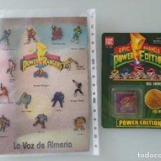 Figuras y Muñecos Power Rangers: POWER RANGERS. LOTE DE PINS. NUEVO. Lote 294834428