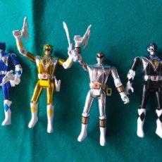 Figuras y Muñecos Power Rangers: LOTE DE CUATRO POWER RANGERS BANDAI AÑO 93. Lote 294837818
