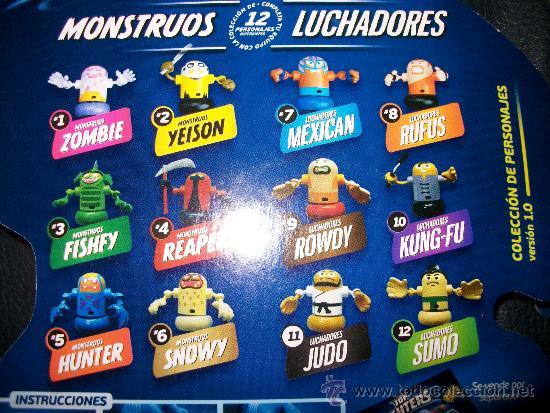 Figuras y Muñecos Pressing Catch: LOTE 12 TOP FIGHTERS - BIZAK - PRECINTADOS - Nº DEL 1 AL 12 - Foto 2 - 47114261