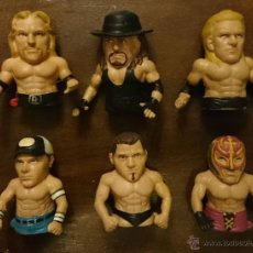 Figuras y Muñecos Pressing Catch: WORLD WRESTLING 6 PLASTIC FINGERS. Lote 46041719