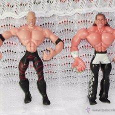 Figuras y Muñecos Pressing Catch: PRESSING CATCH - WWE - LOTE DE 2 LUCHADORES DE GOMA. Lote 53053441