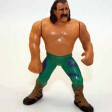 Figuras y Muñecos Pressing Catch: FIGURA WWF JAKE SNAKE ROBERTS - EL SERPIENTE - TITAN SPORTS - 1990. Lote 71067333