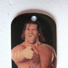 Figuras y Muñecos Pressing Catch: CHAPA / COLGANTE LUCHADOR WWE THE GREAT KHALI - 2008 - WORLD WRESTLING ENTERTAINMENT. Lote 84282556