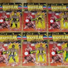 Figuras y Muñecos Pressing Catch: COLECCION COMPLETA WRESTLER TIPO MASTERS OF THE UNIVERSE MOTU Y WWF TOSFRIT. Lote 91658514