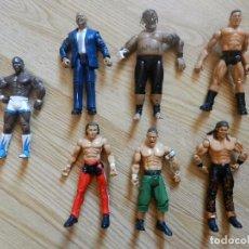 Figuras y Muñecos Pressing Catch: LOTE 7 FIGURAS DE ACCION WWE.INC SAMOA BATISTA JAKKS PACIFIC 1999 2004 ARTICULADA PRESSING CATCH WWF. Lote 95695979