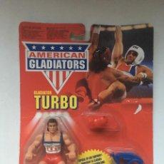 Figuras y Muñecos Pressing Catch: AMERICAN GLADIATORS - TURBO - BLISTER - FIGURA NUEVA - SIN USO. Lote 96632163