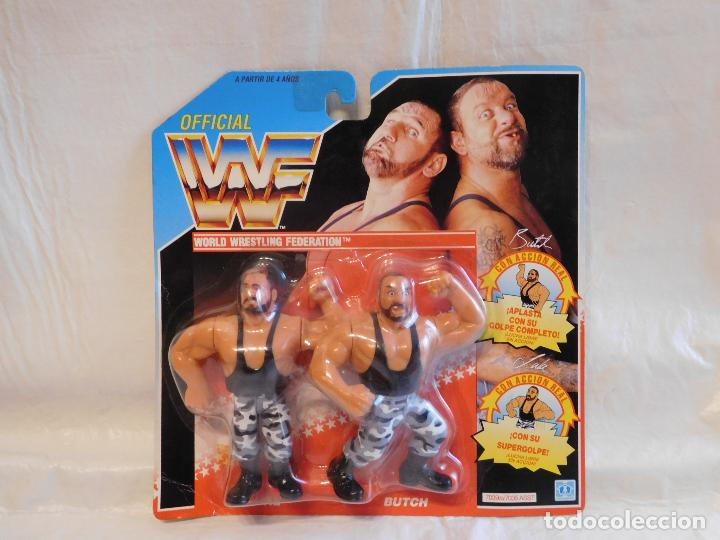 Figuras y Muñecos Pressing Catch: PRESSING CATCH AÑOS 90 WWF HERMANOS SACAMANTECAS EN BLISTER DOBLE - Foto 2 - 152558418