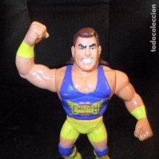 Figuras y Muñecos Pressing Catch: CRUSH - PRESSING CATCH , WWF WWE, HASBRO 1990. FUNCIONANDO. Lote 106042959