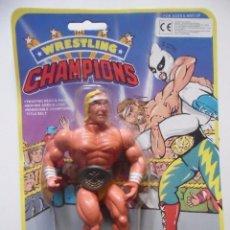 Figuras y Muñecos Pressing Catch: WRESTLING CHAMPIONS A. CHAMP MOTU WWF BOOTLEG KO FIGURA EN BLISTER. Lote 113151603