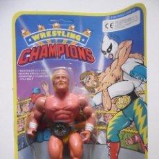 Figuras y Muñecos Pressing Catch: WRESTLING CHAMPIONS C.G HULK HOGAN MOTU WWF BOOTLEG KO FIGURA EN BLISTER. Lote 113151771