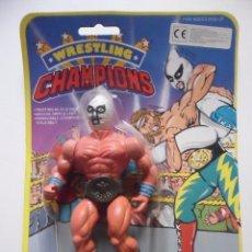 Figuras y Muñecos Pressing Catch: WRESTLING CHAMPIONS MR. UNKNOWN MOTU WWF BOOTLEG KO FIGURA EN BLISTER. Lote 113152327