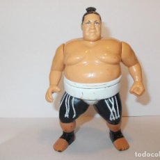 Figuras y Muñecos Pressing Catch: WWF HASBRO PRESSING CATCH - YOKOZUNA #2 SERIE 11 VERDE (1994) - DEFECTOS. Lote 114936151